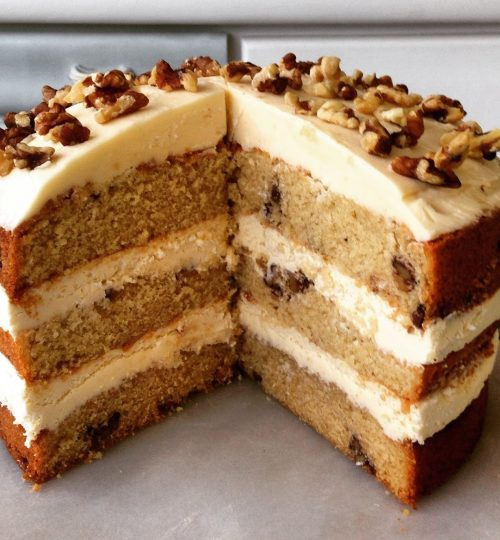 coffee & walnut triple layer