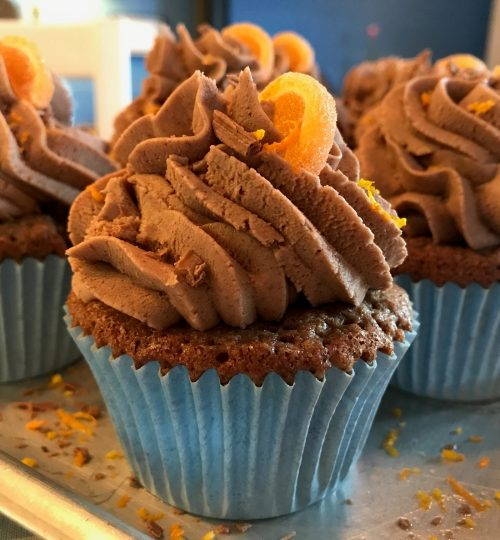 choc orange cupcake