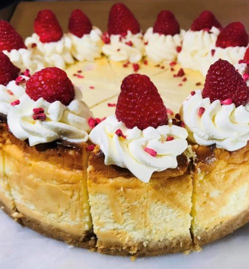 baked white choc raspberry